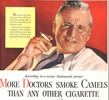 Cigarettes are healthy for you. Doctors said so.