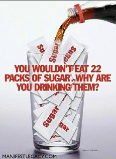 How much sugar in one serving of soda pop?