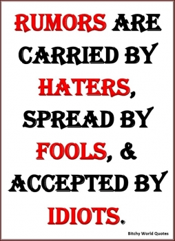 Haters--a few words on haters
