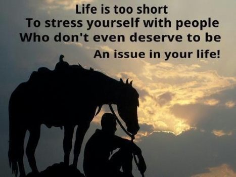 Life: Get rid of the people that cause stress in your life