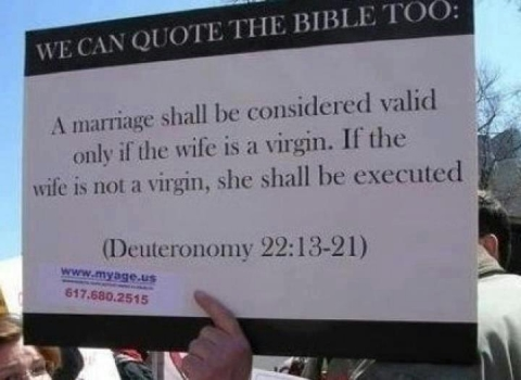 Gay marriage and the bible