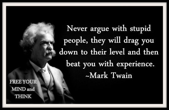 never argue with a idiot 
