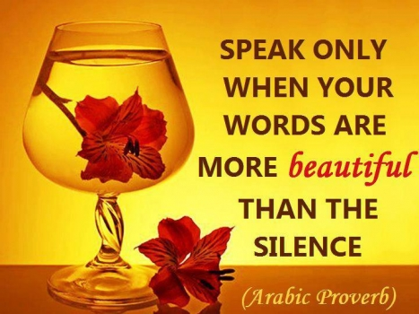 When to speak...